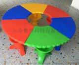 定製滾塑桌椅兒童學校課桌椅 一體成型幼兒園課桌椅