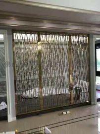 不锈钢屏风厂家 不锈钢隔断屏风 会所不锈钢花格直销