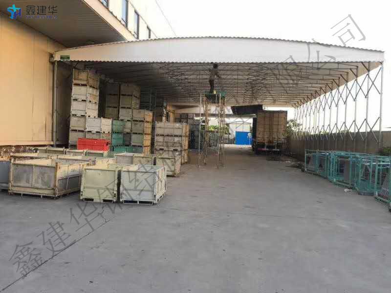山西太原定製推拉雨棚伸縮帳篷戶外停車蓬大型倉庫棚
