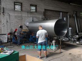**各种规格镀锌螺旋风管、通风排气管道产品厂家选质量好的风管厂家【江大风管厂】