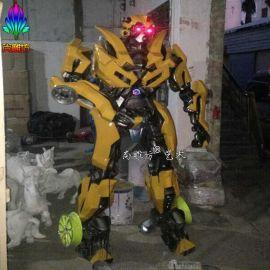 尚雕坊现货供应H220CM变形金刚4小黄蜂大型机器人 承接主题场景构建