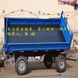拖拉机拖斗,农用拖拉机拖车,双轴自卸拖车