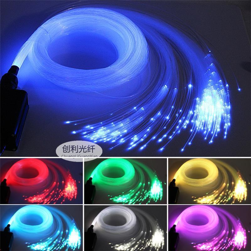 直径0.5mm塑料光纤照明导光光纤LED尾光满天星顶灯光纤发光衣服线