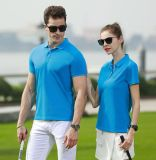 翻领T恤女短袖宽松上衣 夏季休闲运动工作服定制印logo半袖POLO衫