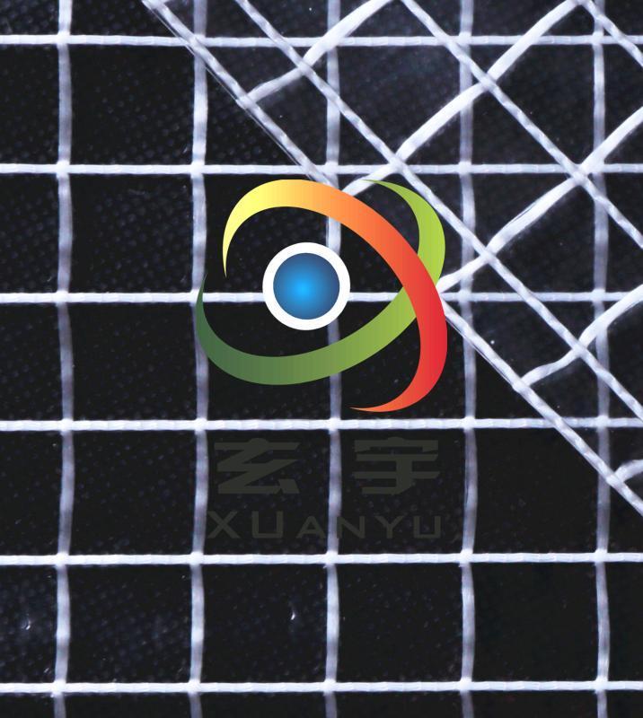 大型农用保温PVC透明夹网布,防雨布 PVC网格布