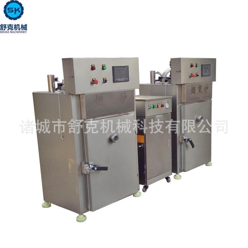 時間繼電器控制30型號全自動不鏽鋼材質煙燻爐設備 紅腸煙燻機器