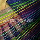 彩條網布、條紋網、彩色條紋網布、印花條紋格紗網布