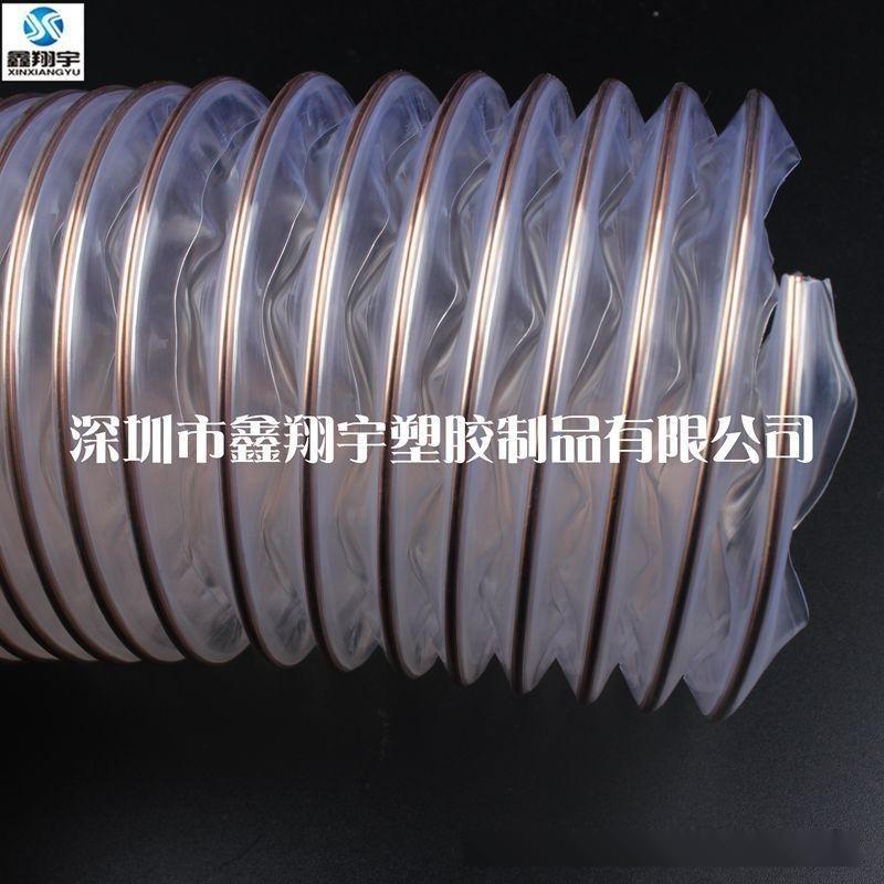 意大利PU聚氨脂钢丝伸缩管,木工专用吸尘通风管,钢丝吸尘软管100