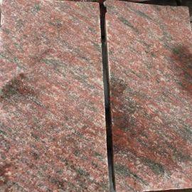 天然优质将 红石材 外墙干挂地铺石材 河北花岗岩蘑菇石厂家直销