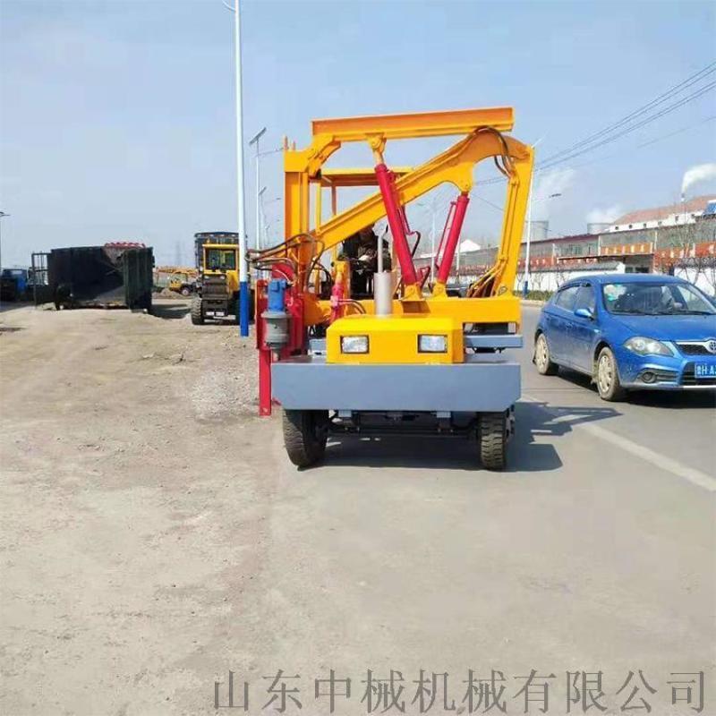 高速公路打桩机钻孔空压打拔钻一体机装载式压桩机地基