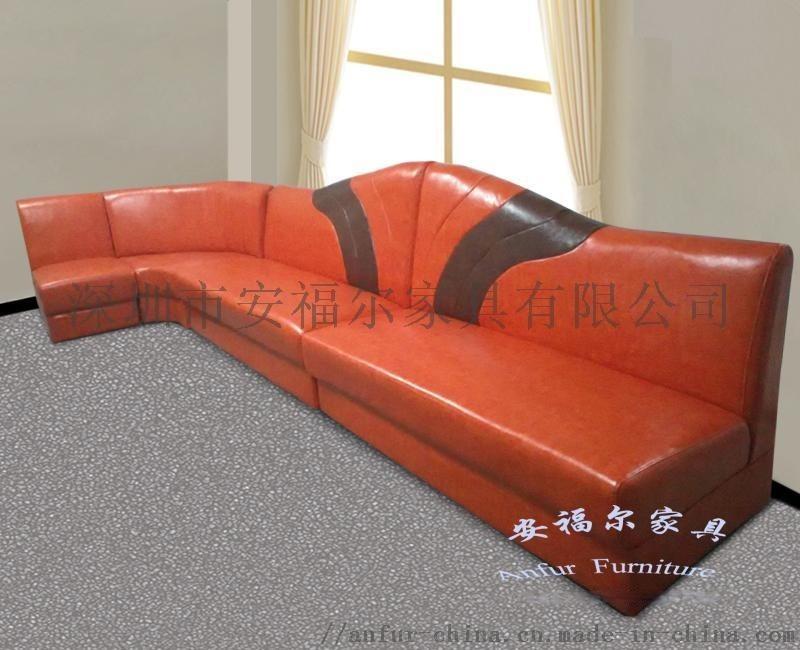 ** 酒店  桔色转角沙发 定做 厂家供应