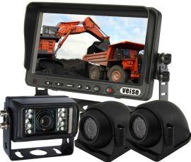 渣土车倒车影像系统宽电压8-32V,防水红外摄像头,防水级别IP69K