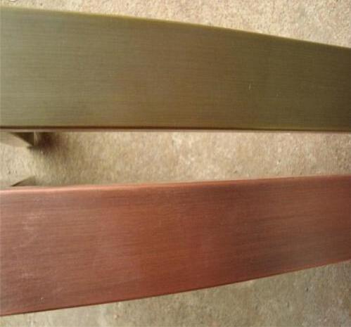 北京彩色不锈钢管,红古铜不锈钢方管(180#拉丝面)
