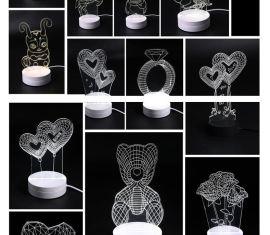元旦礼物,创意台灯氛围灯创意礼品印字礼品