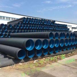 郑州百安居管业300PE双壁波纹管老厂家直销开封PVC双壁波纹管工程报价许昌双壁波纹管批发