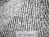 涤棉竹节加银丝粗针布 粗针面料