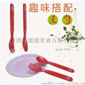 儿童套装刀叉勺卡通儿童便携餐具套装**汤匙OEM加工定制