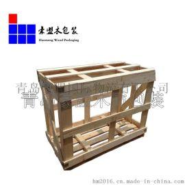 供应青岛港木箱 厂家大量批发托盘包装箱 规格可定制批发