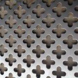 廠家定做304不鏽鋼衝孔網 外牆圖案孔板 十字孔鋁板裝飾衝孔網