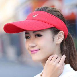 廠家批發訂做新款遮陽帽沙灘帽防曬太陽帽棒球帽空頂帽子