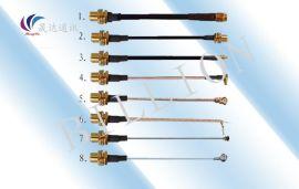 低损耗天线转接线SMA**转SMA母头 总长18cm射频线延长线连接线