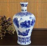 3斤5斤青花陶瓷酒瓶_景德镇陶瓷酒瓶厂_万业陶瓷厂