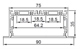 厂家供应LED节能线性灯外壳配件 条形 线形 室内照明