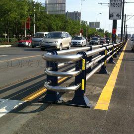 钢制道路隔离栏杆,市政隔离栏,不锈钢复合管护栏