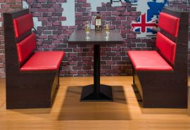 供应餐厅卡座休闲餐厅沙发,皮革布艺卡座沙发厂定制