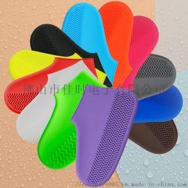 户外雨天防水鞋套防滑加厚耐磨 硅胶成人儿童雨鞋套