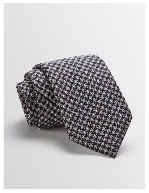 男士色织格子领带 商务领带 真丝领带