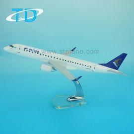 树脂工艺品ERJ-190 1/100 阿斯塔纳航空 仿真飞机客机静态航模