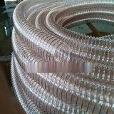 福建PU镀铜钢丝透明软管,PU钢丝集尘管