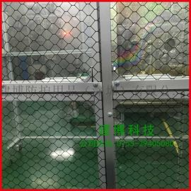 PVC 1.0防静电透明网格窗帘 防静电软帘防静电隔离门帘
