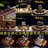 廠家直銷自動泡茶器全自動茶具套裝 旋轉半自動青花陶瓷茶具