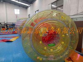 TPU水上滚筒球/儿童水上球步行球/充气水上滚筒