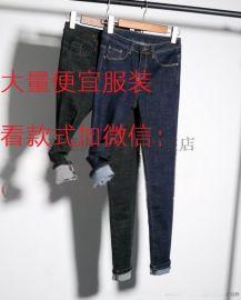 便宜女式小腳褲批發便宜庫存牛仔褲 鉛筆褲廠家批發
