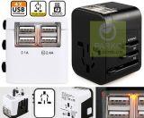 四USB万能旅行转换插头(USB輸出:3.5A)/全球通萬能插座/转换插头