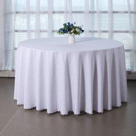君康传奇新品古典云酒店圆形桌布 涤纶提花台布多色