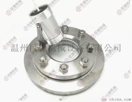 不锈钢压力容器视镜 SB带灯视镜 法兰视镜