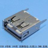 厂家直销A型10.0短体USB180度直插 黄色