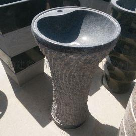 石雕洗手盆 花岗岩一体式立柱盆 卫浴洁具厂家直销