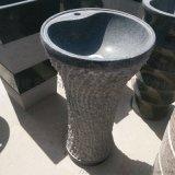 石雕洗手盆 花崗岩一體式立柱盆 衛浴潔具廠家直銷