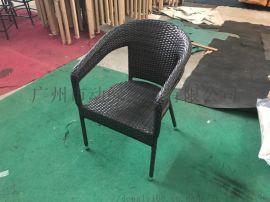 PE编藤椅 仿藤休闲户外桌椅