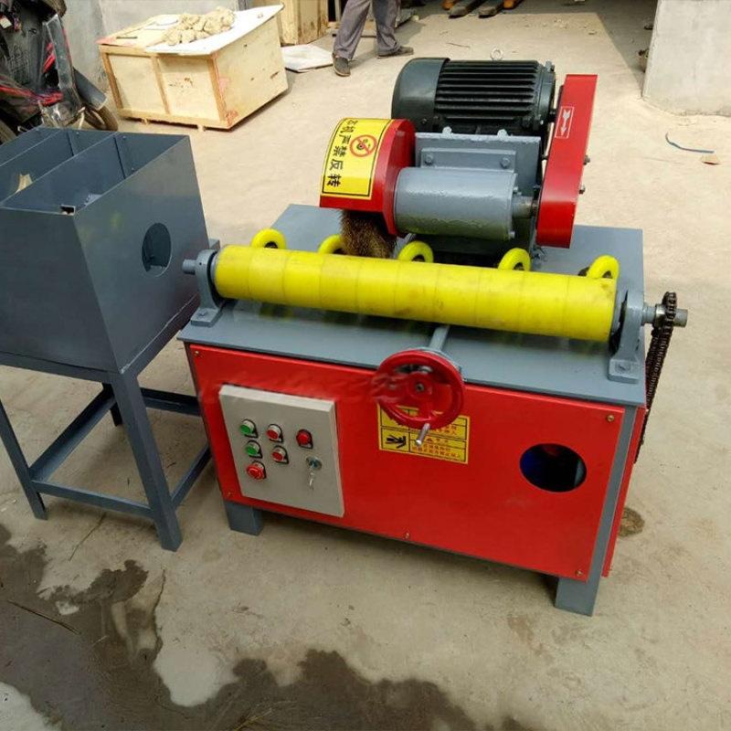 外圆管抛光机,双组钢管除锈机,天然气管喷漆机