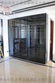 上海碧桂園家用不鏽鋼紅酒櫃恆溫酒櫃酒架設計定制廠家