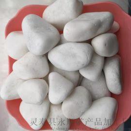 朔州白色抛光鹅卵石 永顺装饰用白色鹅卵石多少钱