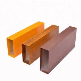 木纹四方管厂家直销室内外墙专用2.0厚铝方通定制