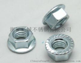 304不锈钢法兰面螺母