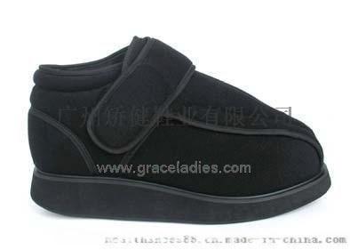 广州矫健老人鞋 欧标布面舒适鞋 足部术后专用鞋